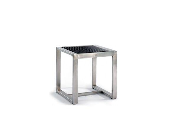 Sled base square side table HARRISON | Side table - 7OCEANS DESIGNS