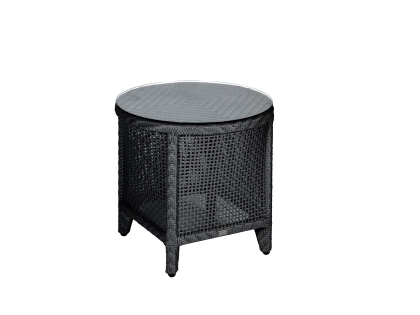 Round garden side table PALM SPRINGS | Side table - 7OCEANS DESIGNS