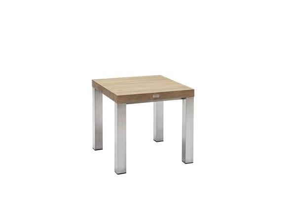 Tavolino da giardino di servizio quadrato in teak ORIGIN   Tavolino di servizio - 7OCEANS DESIGNS