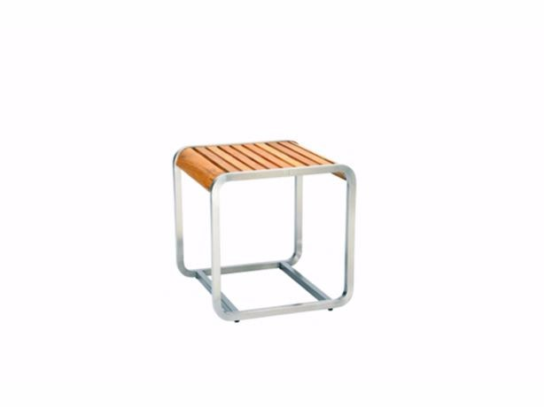 Square teak garden side table SILLOUETTE | Side table - 7OCEANS DESIGNS