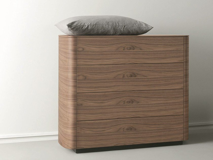 Free standing wooden chest of drawers SIDE   Wooden chest of drawers by Caccaro