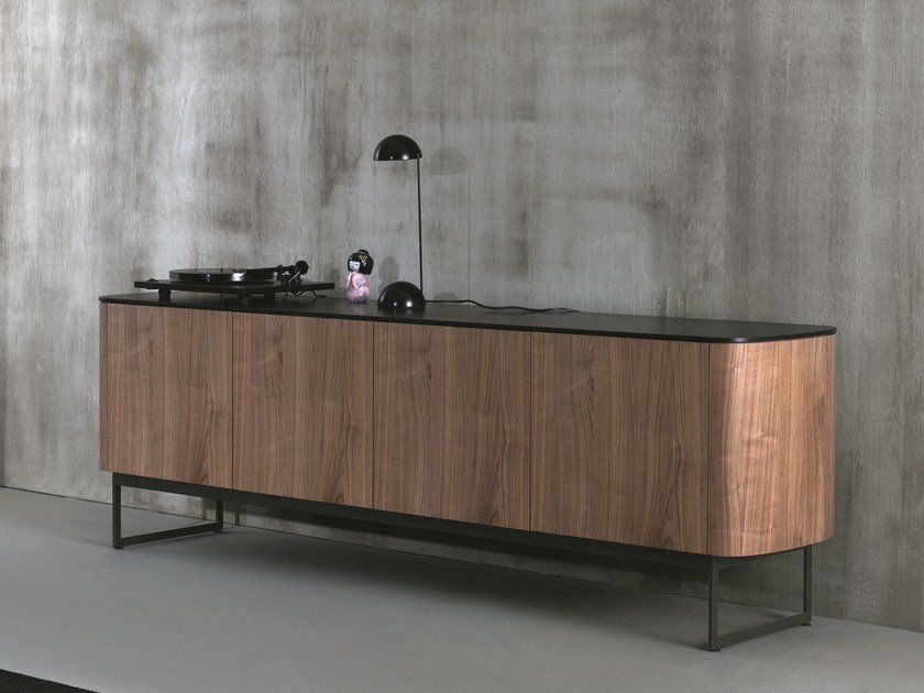 Wooden sideboard with doors SIDE | Wooden sideboard by Caccaro