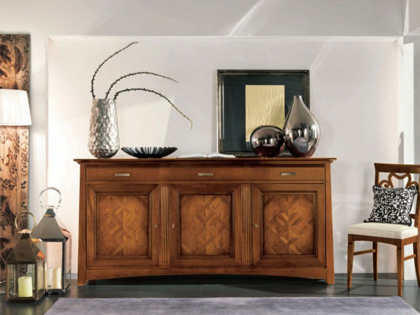 Solid wood sideboard with doors NAIMA | Sideboard by Arvestyle