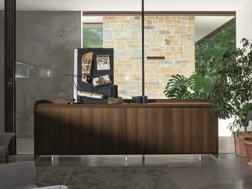 Oak sideboard with doors SLASH | Oak sideboard - Dall'Agnese