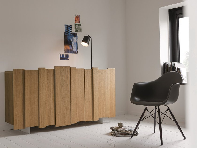 Oak sideboard with doors STRIPE | Sideboard - Dall'Agnese