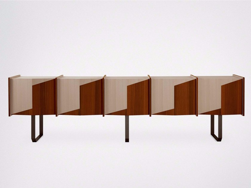 Wooden sideboard with doors DIEDRO   Sideboard by Gallotti&Radice