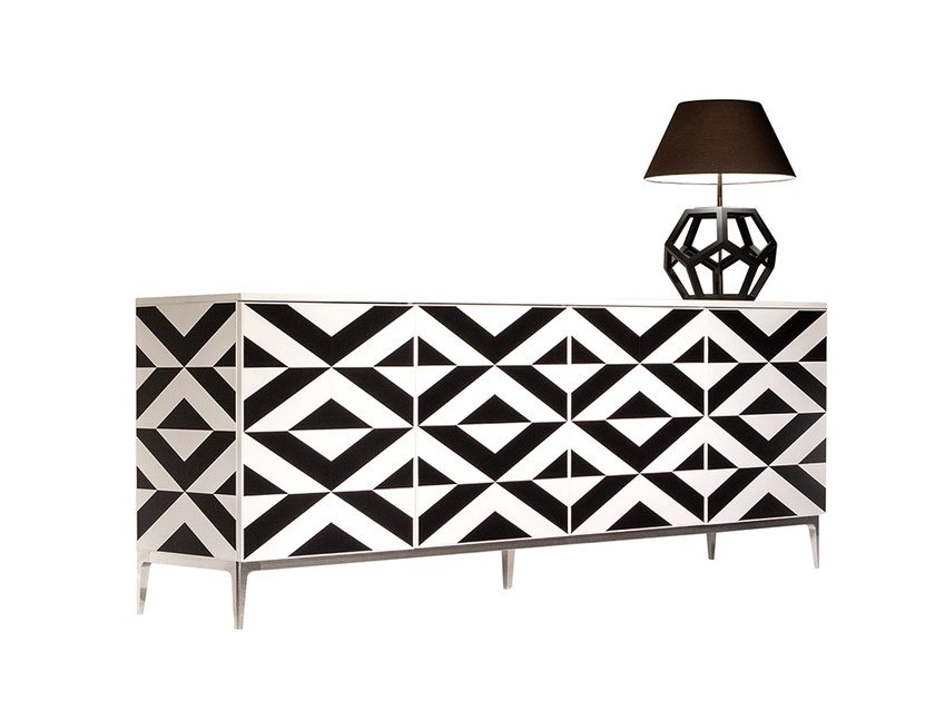 Lacquered wooden sideboard VARIANT | Sideboard by Mobi