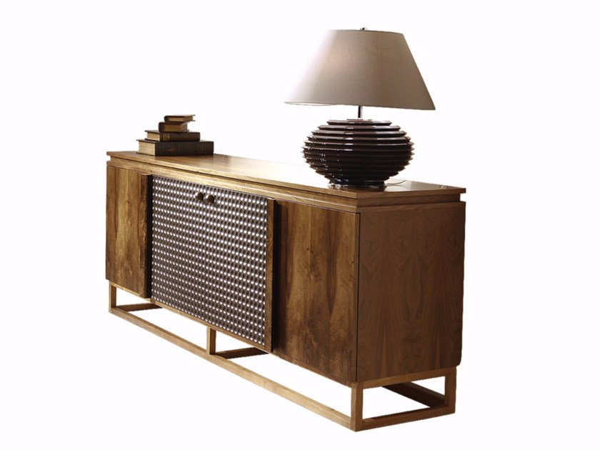 Wooden sideboard with doors CHOCOLATE | Sideboard by Mobi