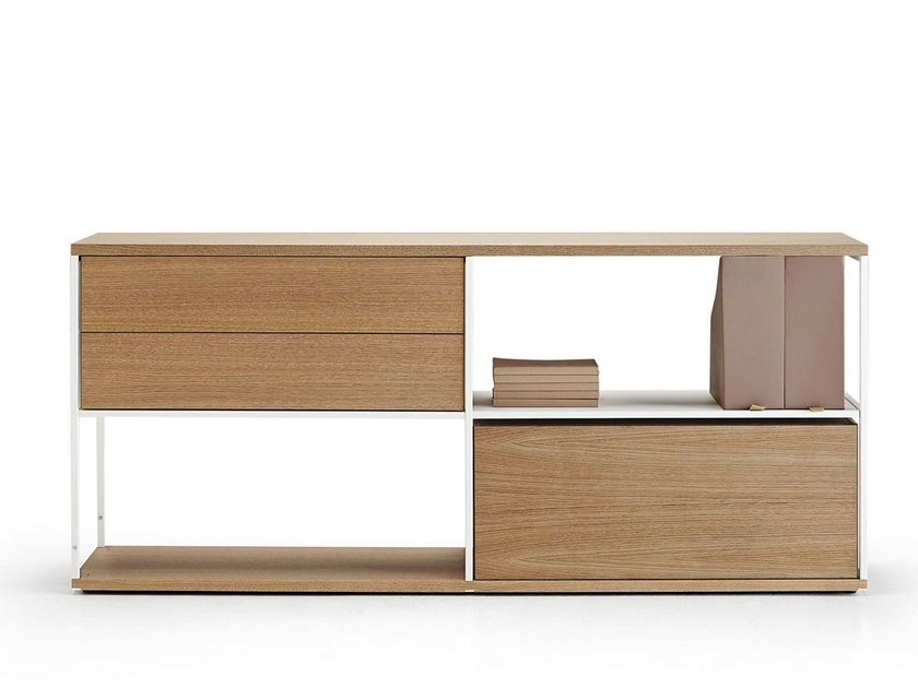 Wooden sideboard with drawers LITERATURA OPEN | Sideboard - Punt