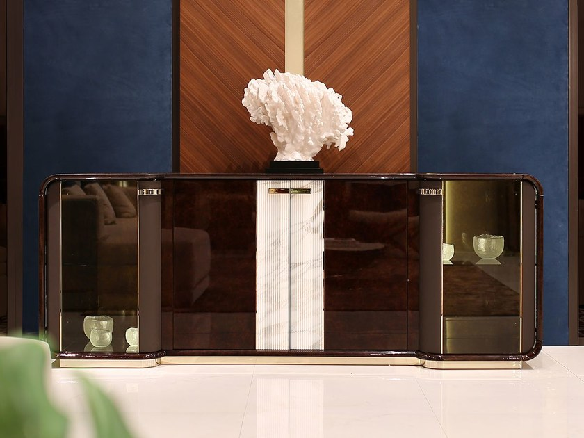Wooden sideboard with doors MADISON | Sideboard by Turri