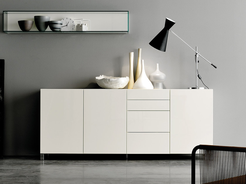 Lacquered sideboard with drawers GRAPHOS | Sideboard with drawers - Silenia