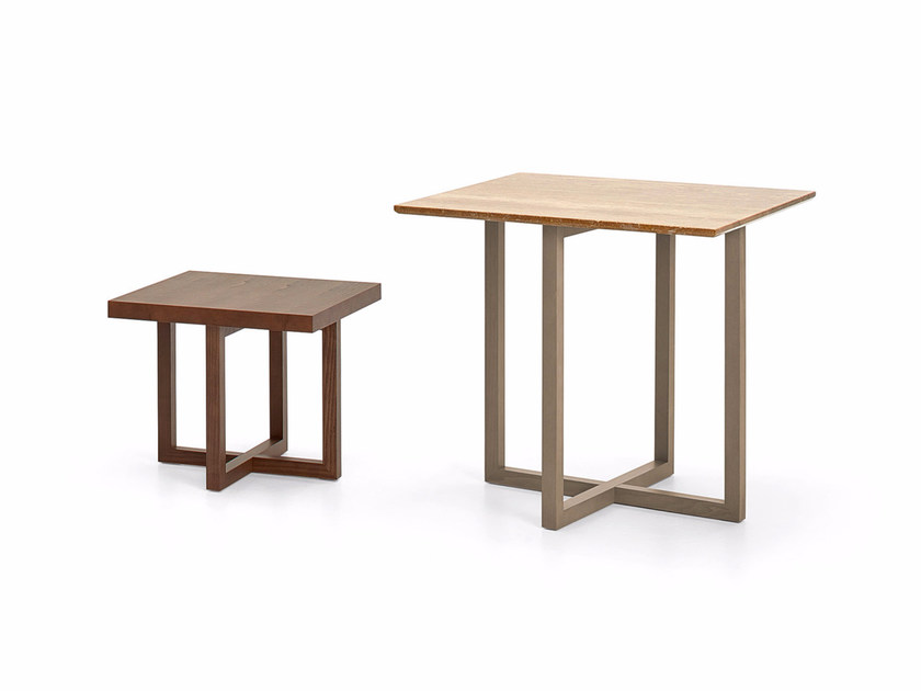 Rectangular wooden bistro side table SIDNEY | Wooden coffee table - Varaschin