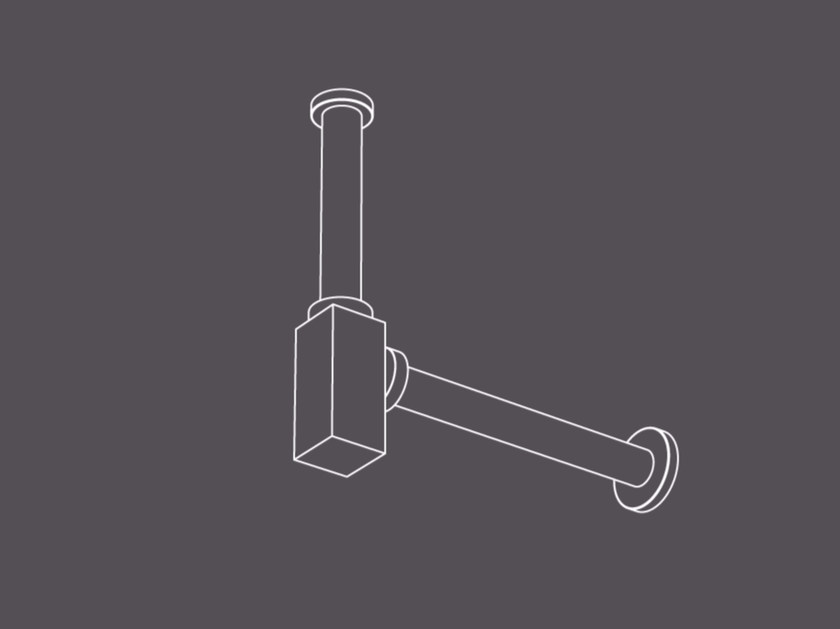 Stainless steel sink siphon SIF2 | Sink siphon by Radomonte