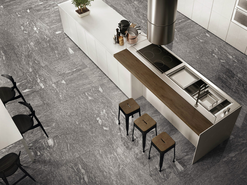 Porcelain stoneware flooring with stone effect SIGHT GREY - CERAMICHE KEOPE