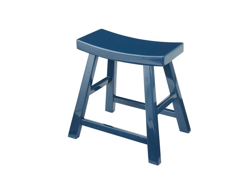 Low Rubberwood stool SIGNATURE | Stool - Compagnie Française de l'Orient et de la Chine