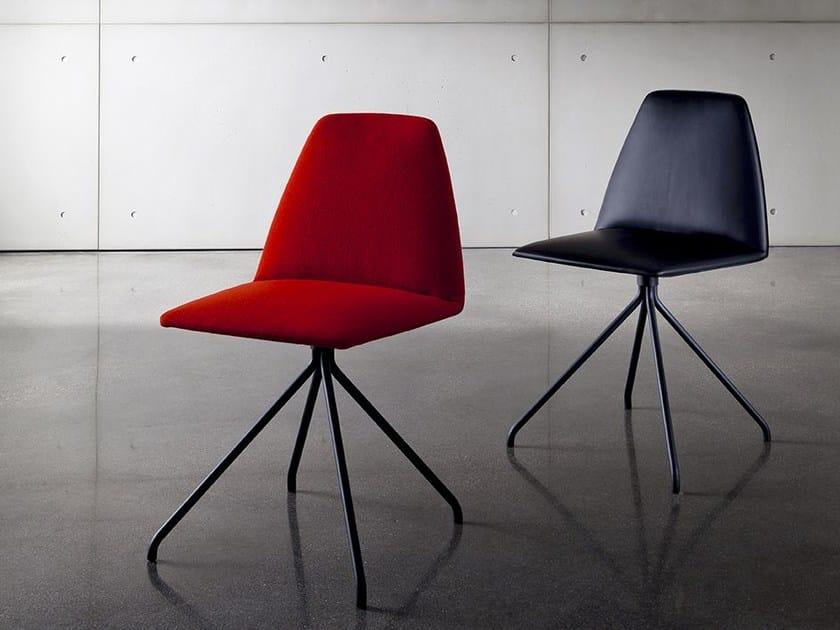 Upholstered trestle-based chair SILA TRESTLE | Upholstered chair - SOVET ITALIA