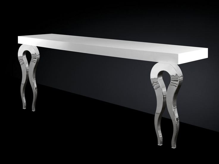 Steel and MDF console table SILHOUETTE | Console table - VGnewtrend
