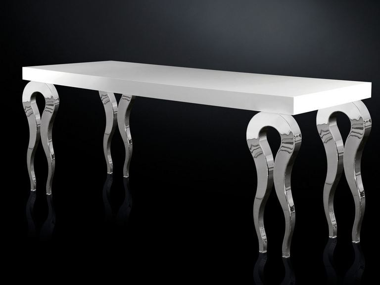 Lacquered rectangular MDF table SILHOUETTE | MDF table - VGnewtrend