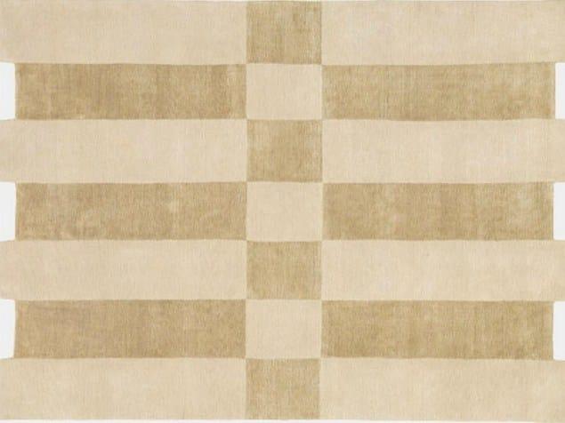 Rug with geometric shapes SILK SHIFT - Deirdre Dyson