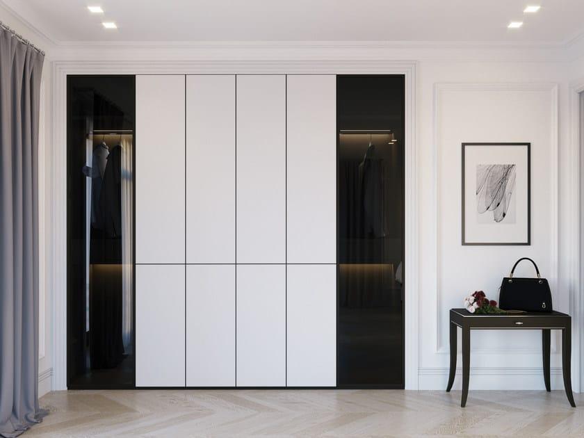 Built-in melamine-faced chipboard wardrobe SILVER LINE | Wardrobe by ITALIANELEMENTS