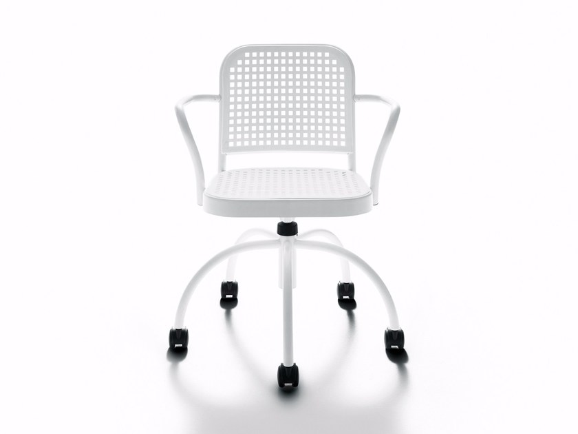 Swivel chair with casters SILVER | Swivel chair - DE PADOVA