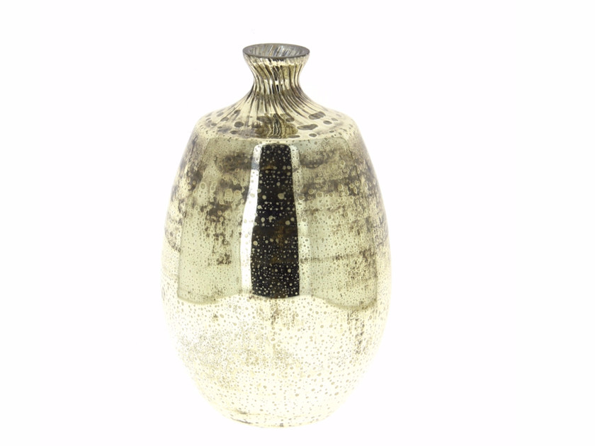 Glass vase SILVER VASE BOUTEILLE by CFOC