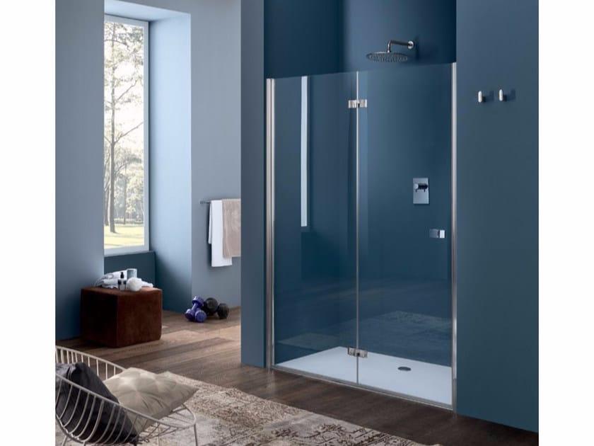 Niche glass shower cabin with folding door SIM - 3 - INDA®