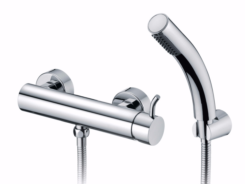 3 hole chromed brass shower mixer with hand shower SIMPLE | Shower mixer - JUSTIME