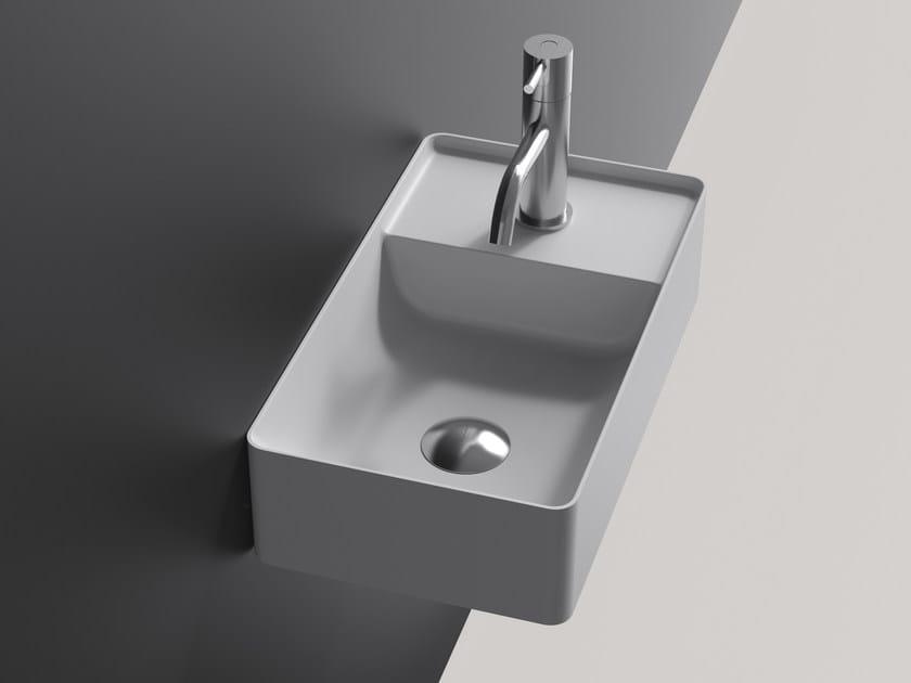 Rectangular wall-mounted Flumood® handrinse basin SIMPLO | Handrinse basin by Antonio Lupi Design