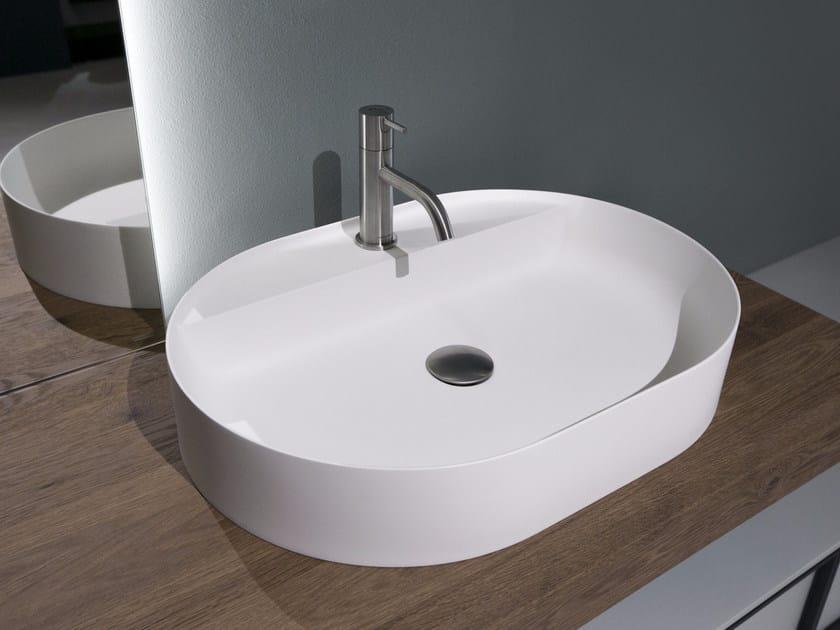 Lavabo da appoggio ovale in Flumood® SIMPLO | Lavabo ovale - Antonio ...