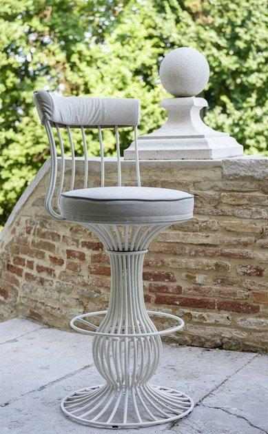Iron counter stool SIRIO | Counter stool - Samuele Mazza Outdoor Collection by DFN