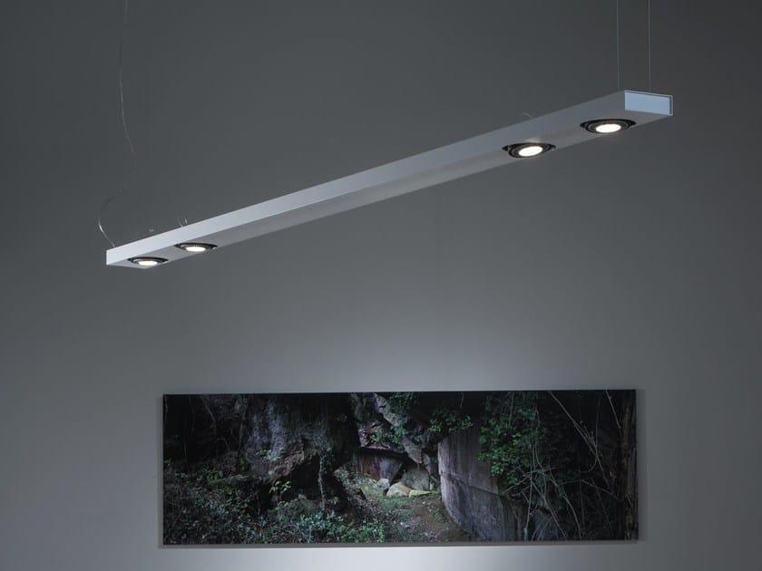 Aluminium pendant lamp SISTEMA BRICK | Pendant lamp - Martinelli Luce