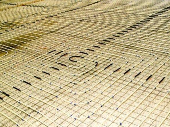 Radiant floor panel SISTEMA RETE - Idrosistemi