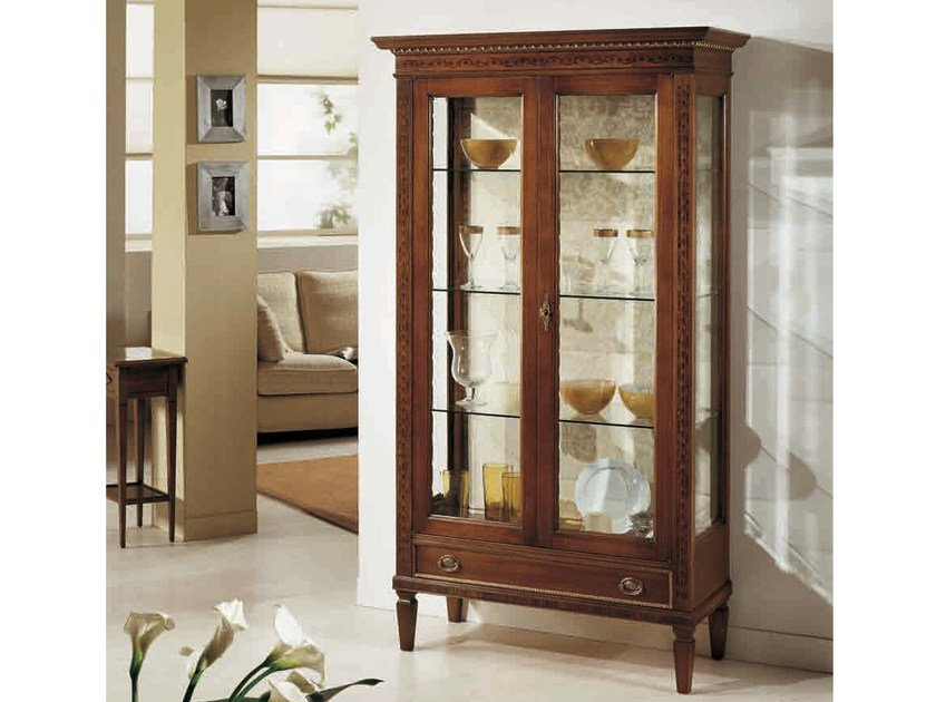 Solid wood display cabinet SIVIGLIA by Arvestyle