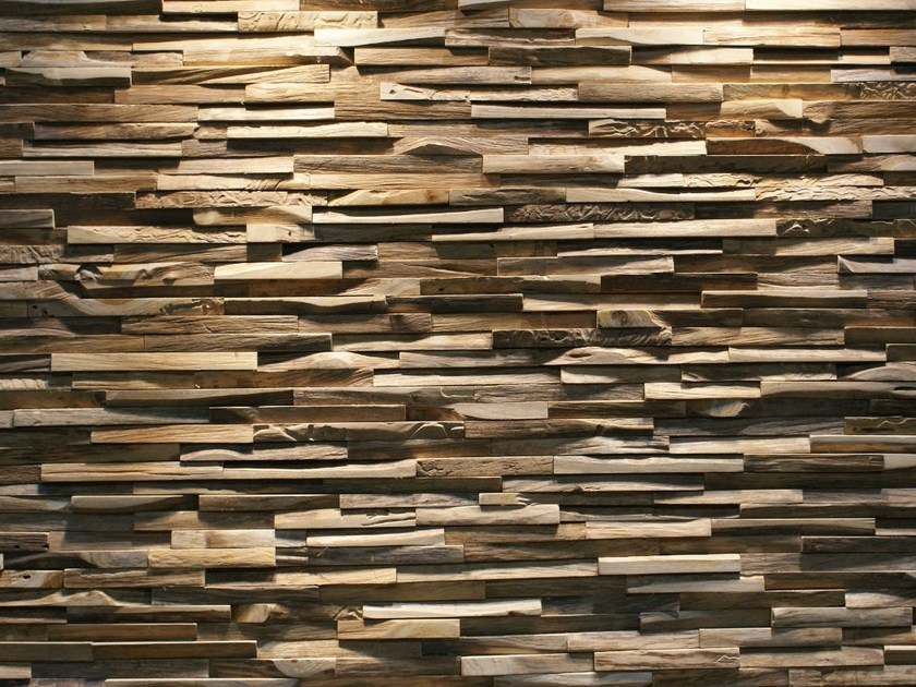 Reclaimed wood 3D Wall Tile SKIN PANEL S - Teakyourwall