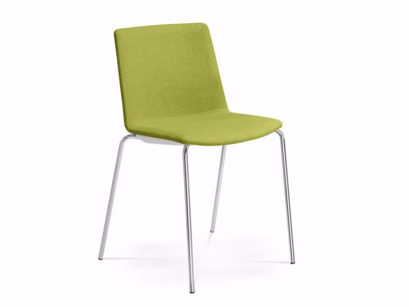 Sedia imbottita in tessuto per sale d'attesa SKY FRESH 055-N4 - LD Seating