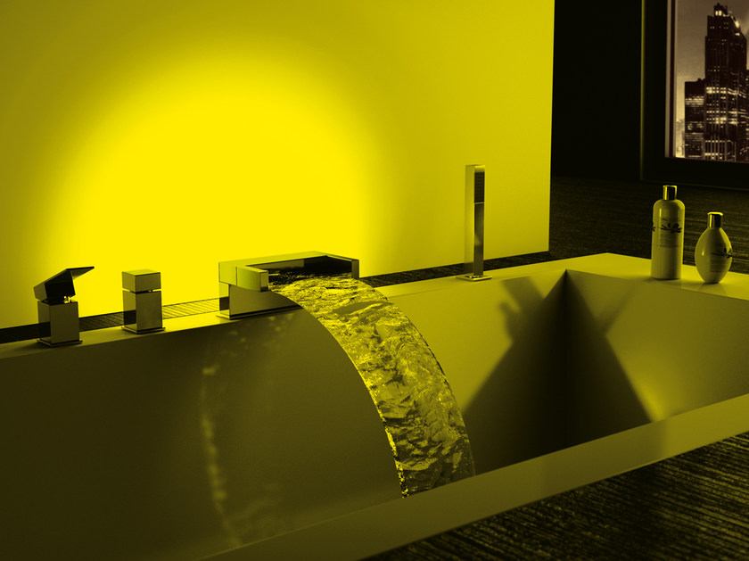 LED bathtub set with hand shower SKYLINE AMBIENT | Bathtub set by Daniel Rubinetterie