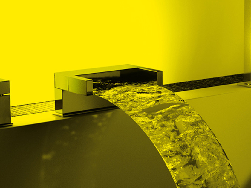 Deck-mounted waterfall spout SKYLINE AMBIENT   Spout by Daniel Rubinetterie