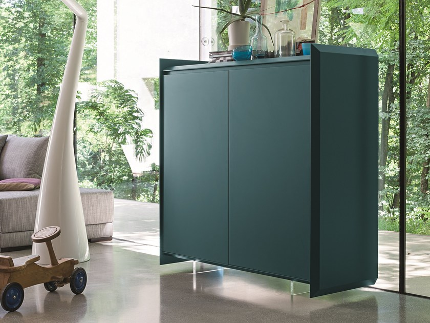 Lacquered highboard with doors SLASH   Lacquered highboard - Dall'Agnese
