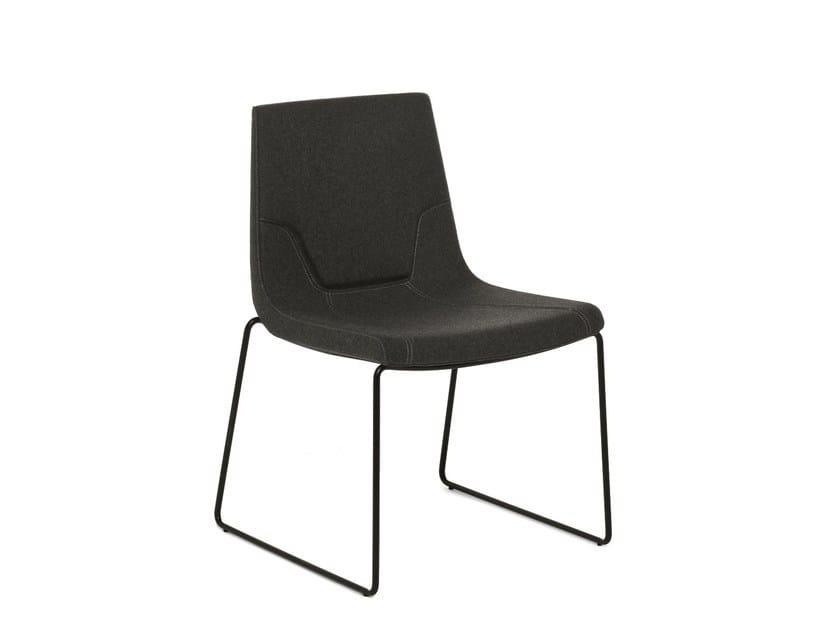 Sled base chair ELLE 48 | Sled base chair by Emmegi