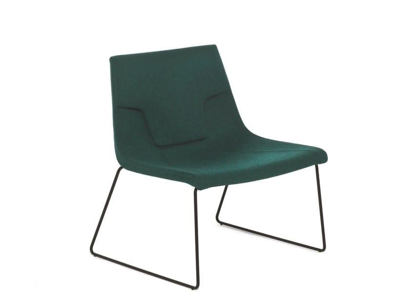 Sled base chair ELLE 70 | Sled base chair by Emmegi