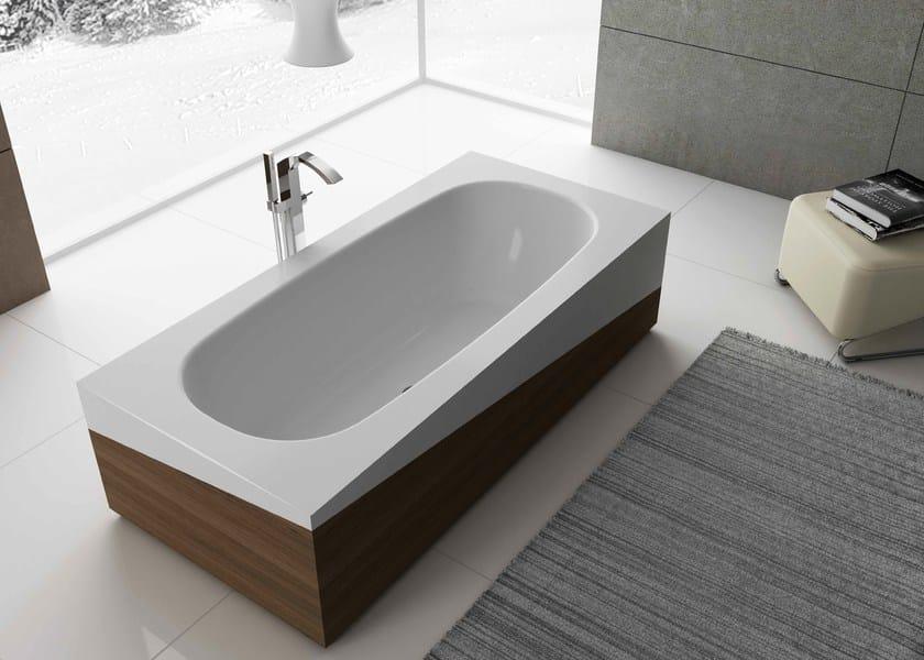 Freestanding rectangular bathtub SLED - Flora Style