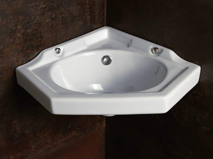 Lavabo ad angolo in ceramica sleeepy penta collezione - Lavabo ad angolo ...