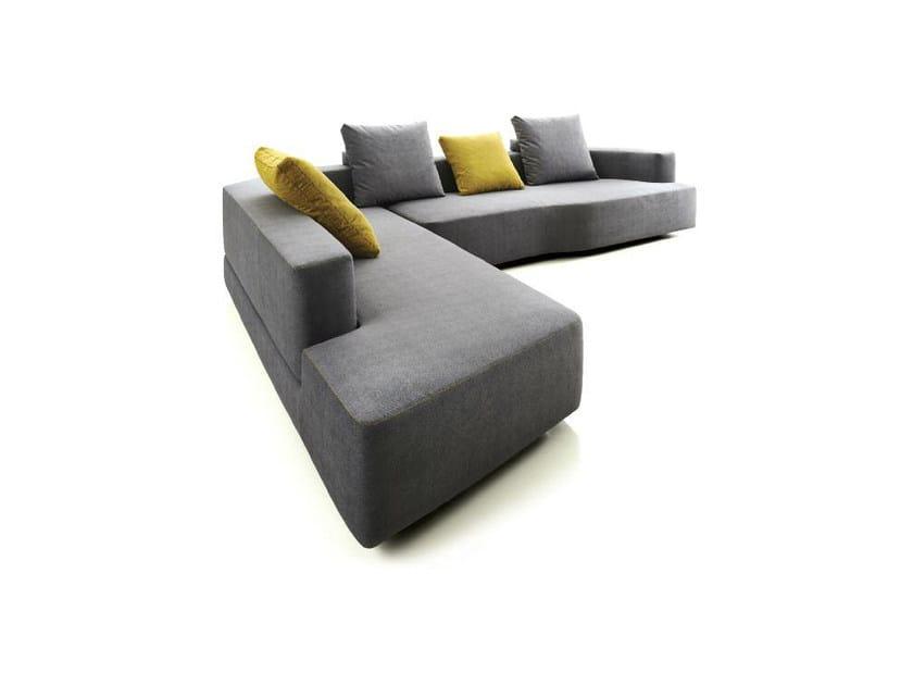 Corner modular fabric sofa SLIDE by Papadatos