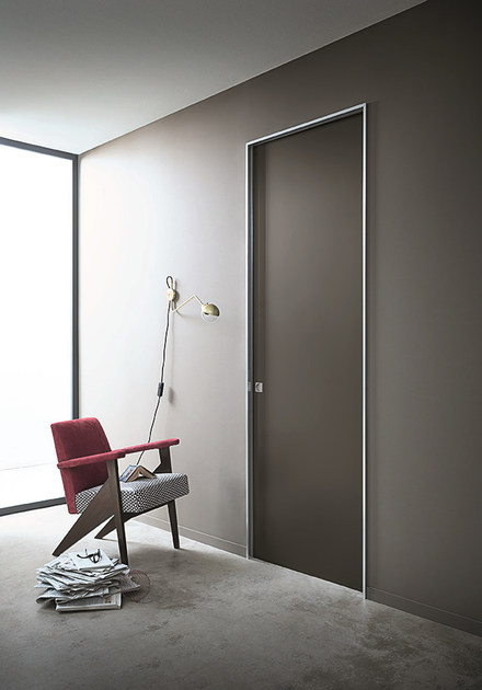 Lacquered honeycomb pocket sliding door L41 | Pocket sliding door - Lualdi