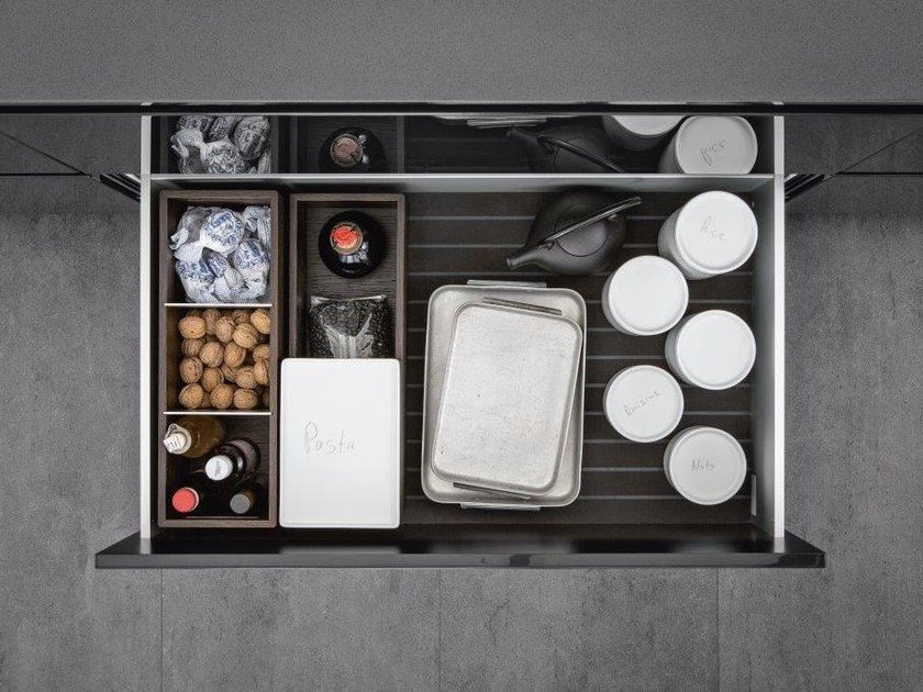 Aluminium Kitchen accessory Sliding drawer system - SieMatic