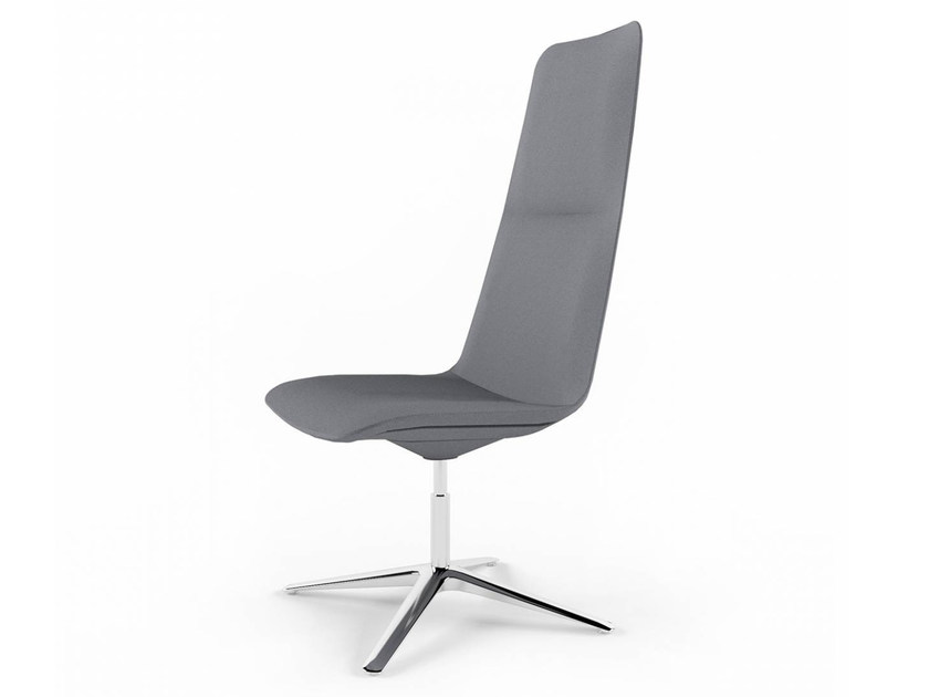 Swivel high-back chair with 4-spoke base SLIM CONFERENCE HIGH 4 - 812 - Alias