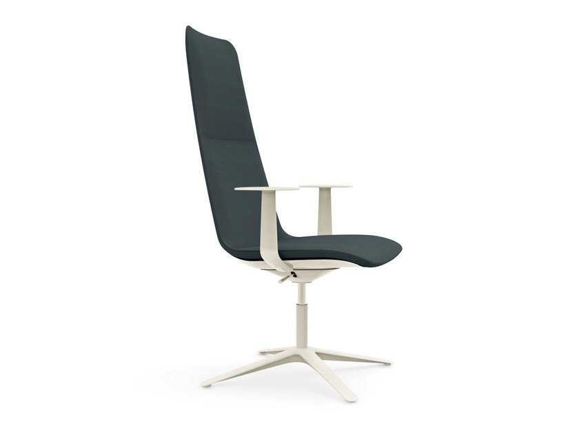 Swivel height-adjustable chair with 4-spoke base SLIM CONFERENCE HIGH 4 - 813 - Alias
