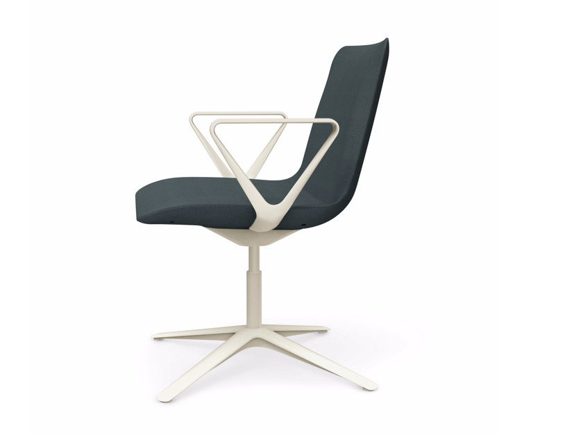 Swivel height-adjustable chair with armrests SLIM CONFERENCE LOW 4 - 806 by Alias