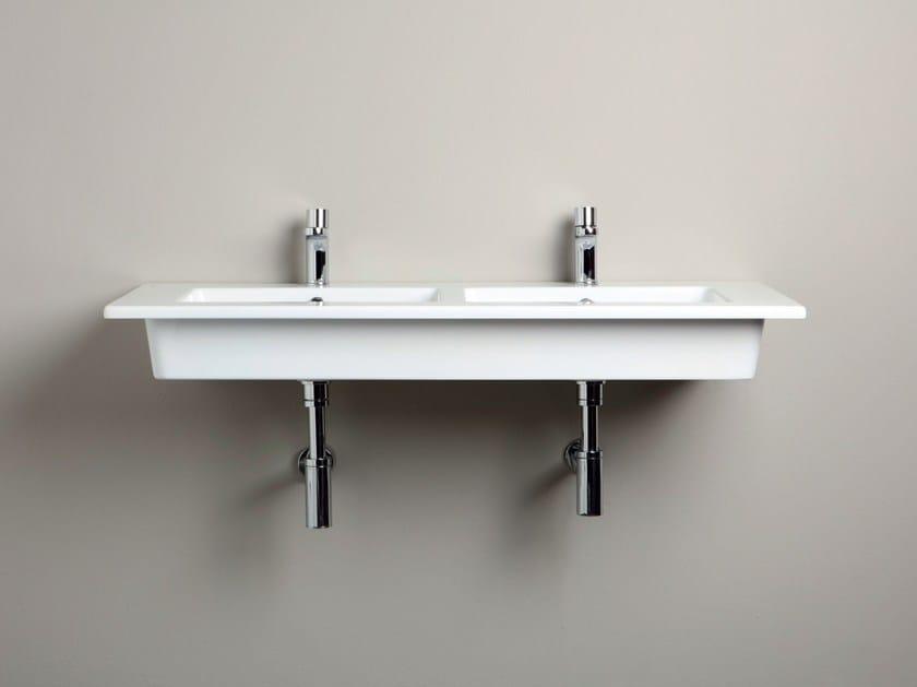 Double ceramic washbasin countertop SLIM   Double washbasin countertop by AZZURRA sanitari